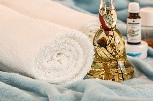 Oils and towels used for Aromatherapy
